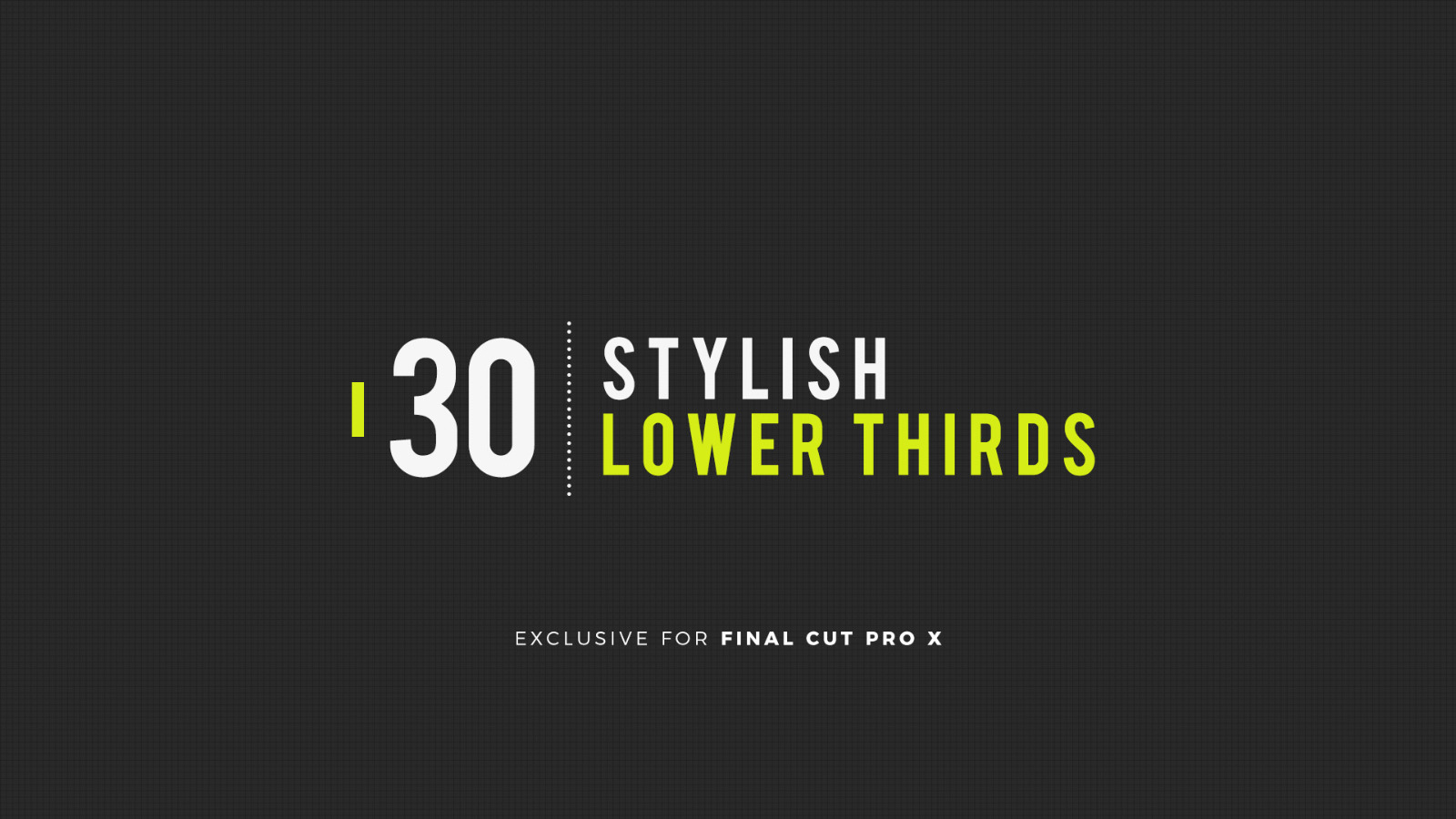 30 Stylish Lower Thirds