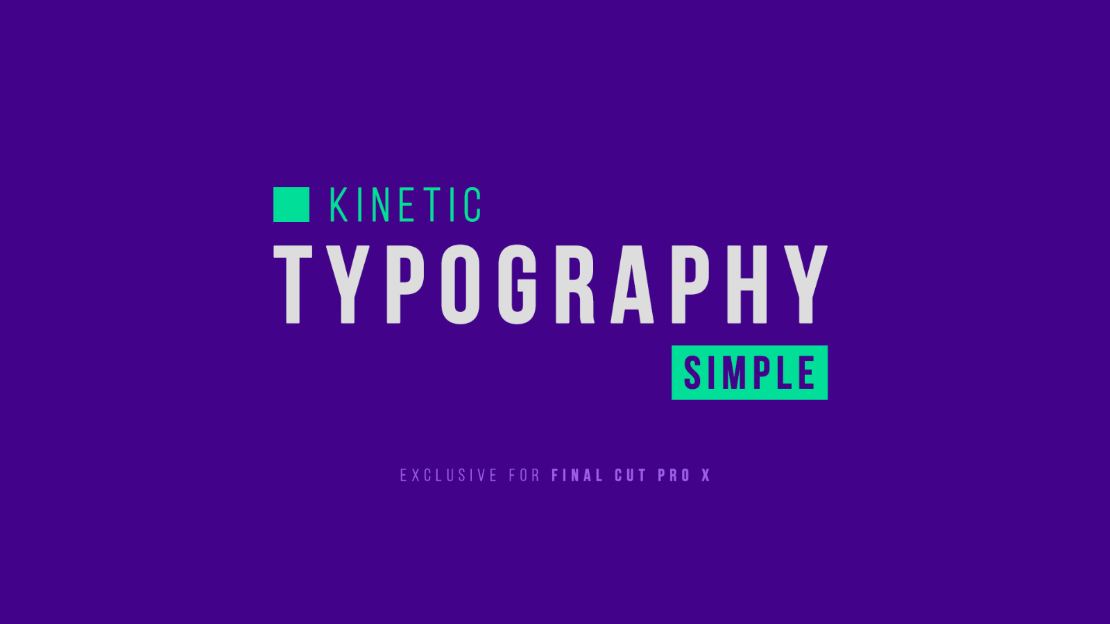 30 Simple Kinetic Typography