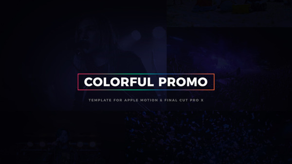 Colorful Promo Template for Motion & FCPX