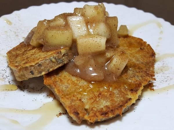 Spelt French Toast w/ Apple Compote