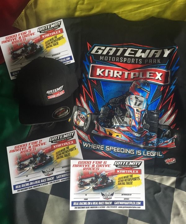 6 Arrive & Drive Races + Kartplex T-Shirt or Hat