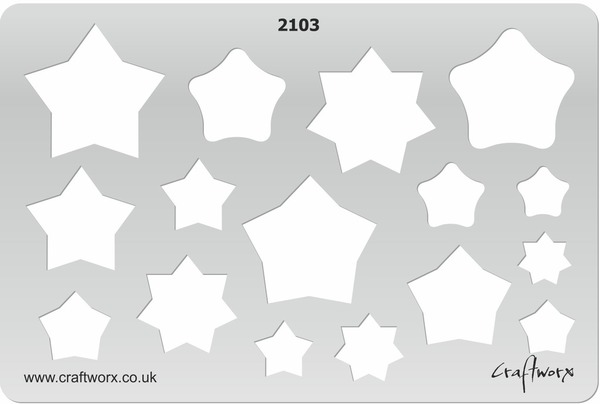 Craftworx Metal Clay Template #2103