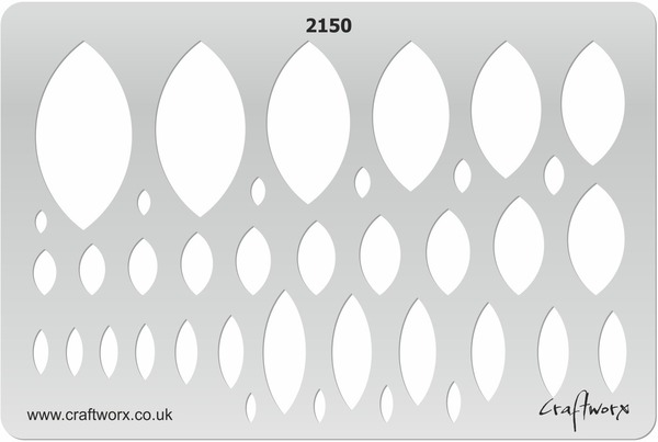 Craftworx Metal Clay Template #2150