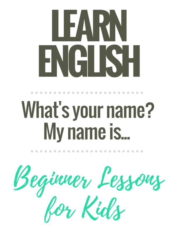 Beginner English Worksheets for Kids: What's your name?