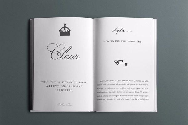 Clear Book Interior Template - 30+ Pages