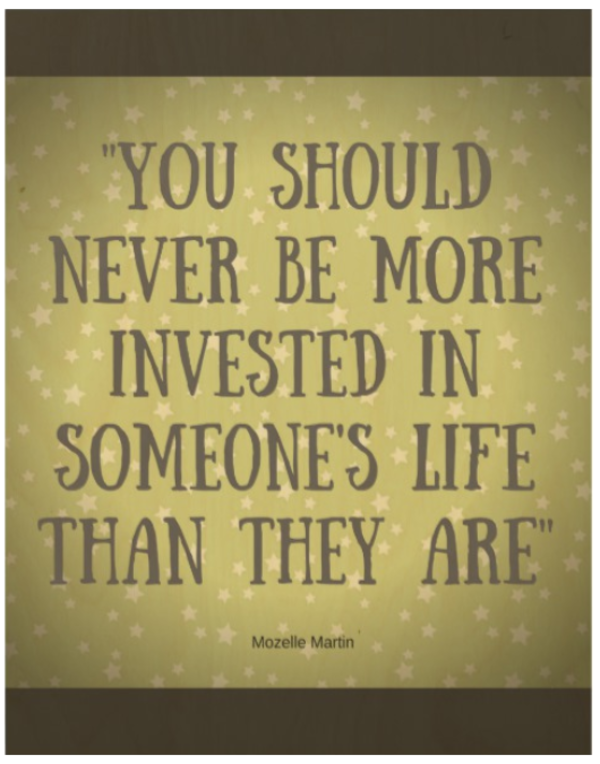 Invested Quote Art Wood Photo Print