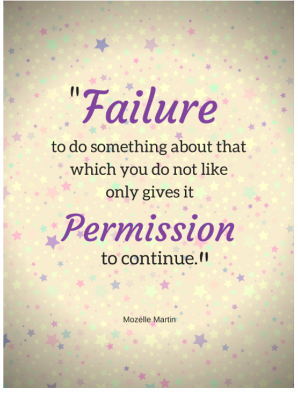 Failure Gives Permission Quote