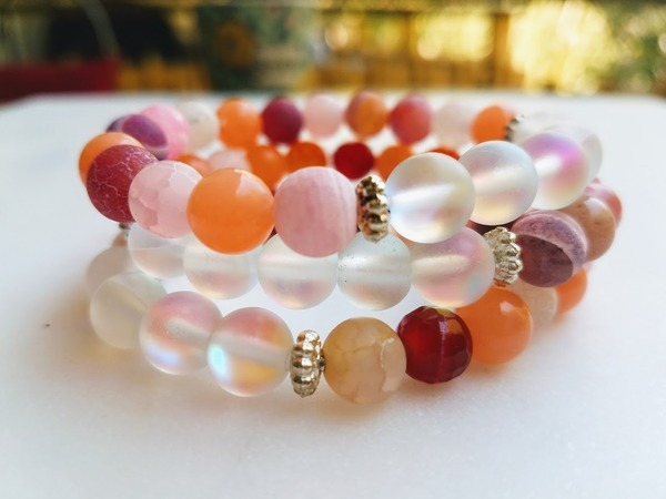 Rose Water Snow | 1 - piece stretch bracelet
