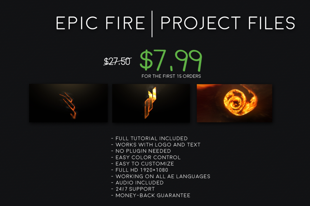 epic fire intro template project files spartiate