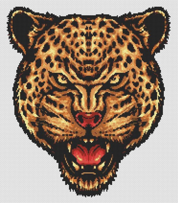 Cheetah Head Portrait Cross Stitch Pattern