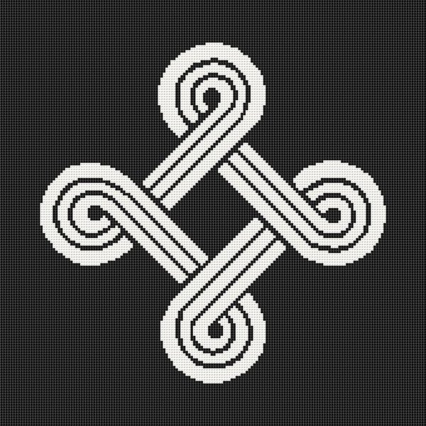 St. John Finnish Symbol Looped Cross Nordic Viking Symbol Cross Stitch Pattern