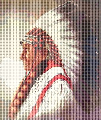 Indian Chief Native American Indian Chief Cross Stitch Pattern