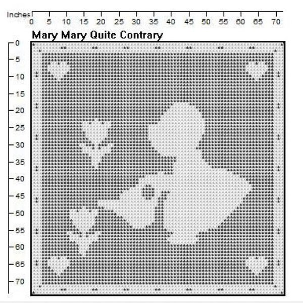 Mary Quite Contrary Filet Crochet Pattern