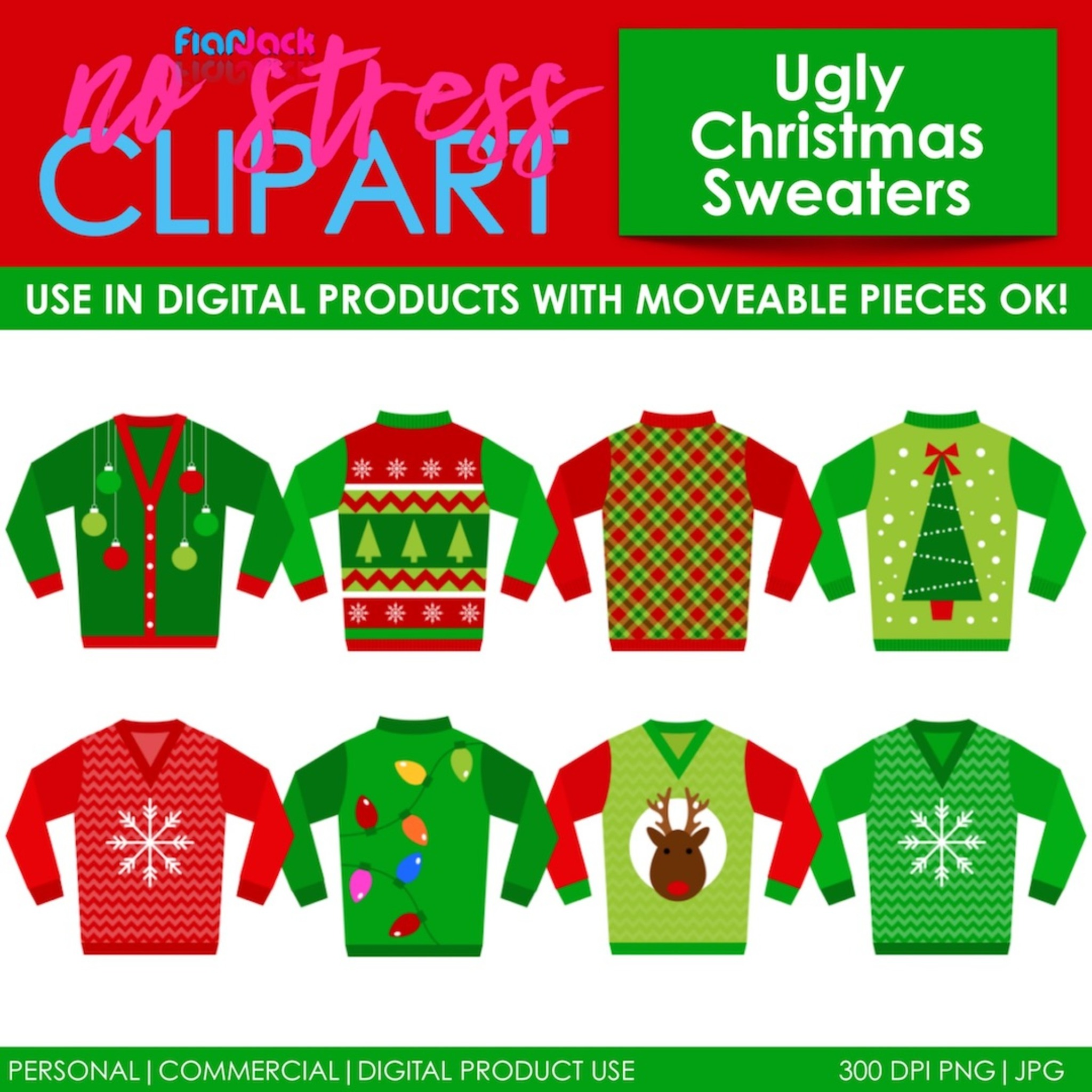 Christmas Ugly Sweaters - FlapJack Educational Resources