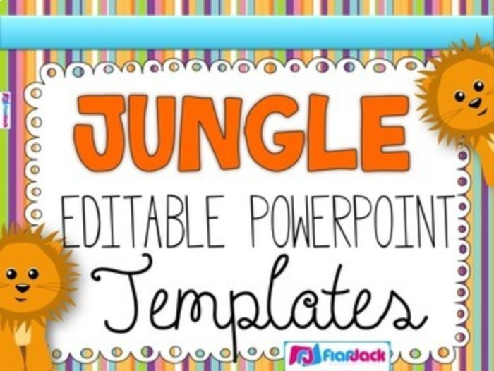 jungle editable powerpoint templates flapjack educational resources