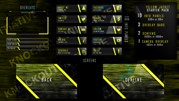 Starter Pack Twitch Overlays - Knockout-Intiative Overlays