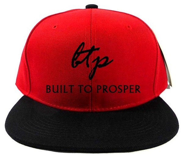 BTP Men Red and Black Snapback