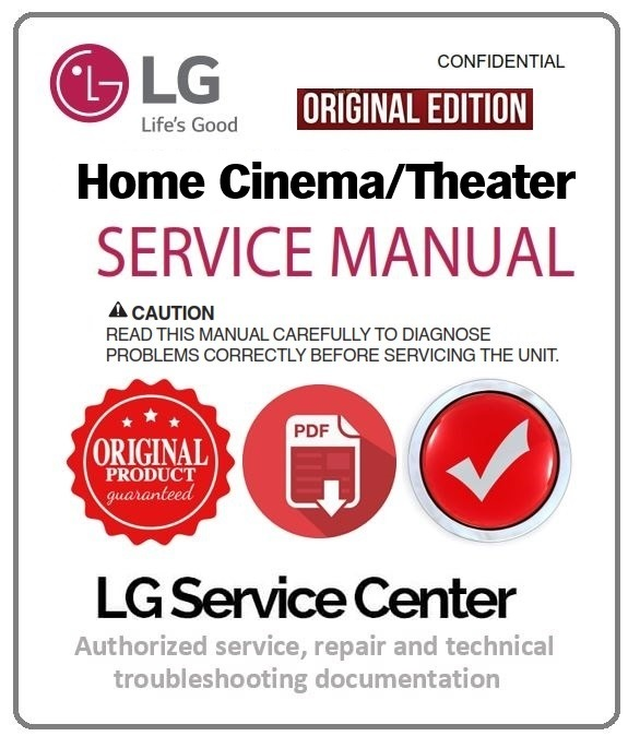 LG TS913ES Home Theater Original Service and Repair Documentation