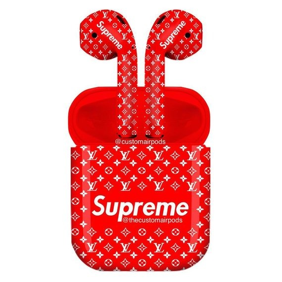 Supreme Custom Colorpods Color Pods Custom Airpods