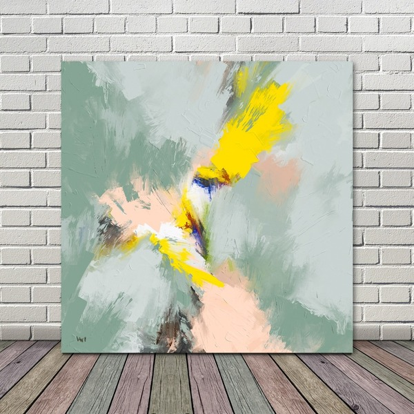 Pay What You Want Large Abstract Painting Printable Mint Sunday