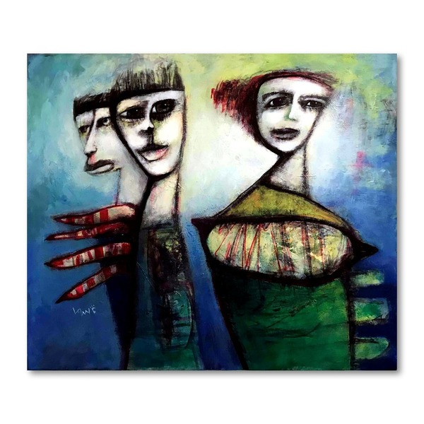 Neo-Abstract Expressionism-Canvas Painting-The Gift by Ken Law
