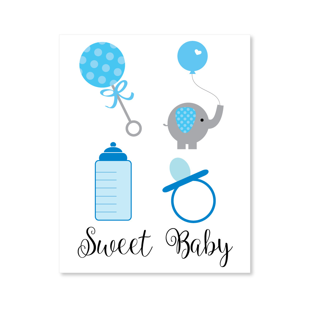 Boy Baby Shower Clipart Print It Baby