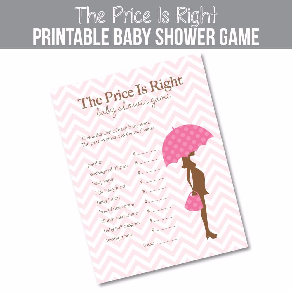 The Price Is Right Baby Shower Game - Pink Mod Mom Theme ...