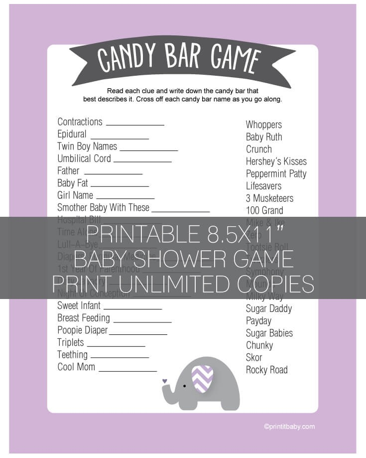 Baby Shower Diaper Game Candy Bar Baby Shower Invitations