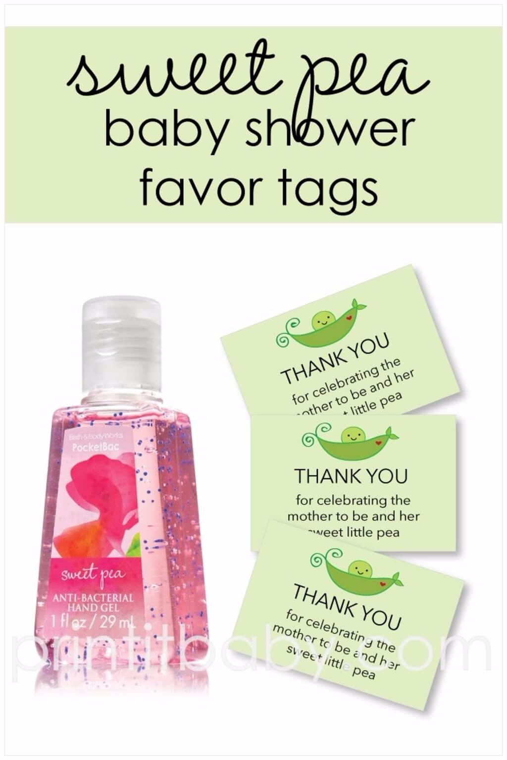 Free Printable Green Sweet Pea Favor Tags - PrintItBaby ...