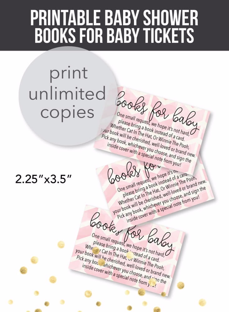 printable pink arrow books for baby cards for a baby shower print