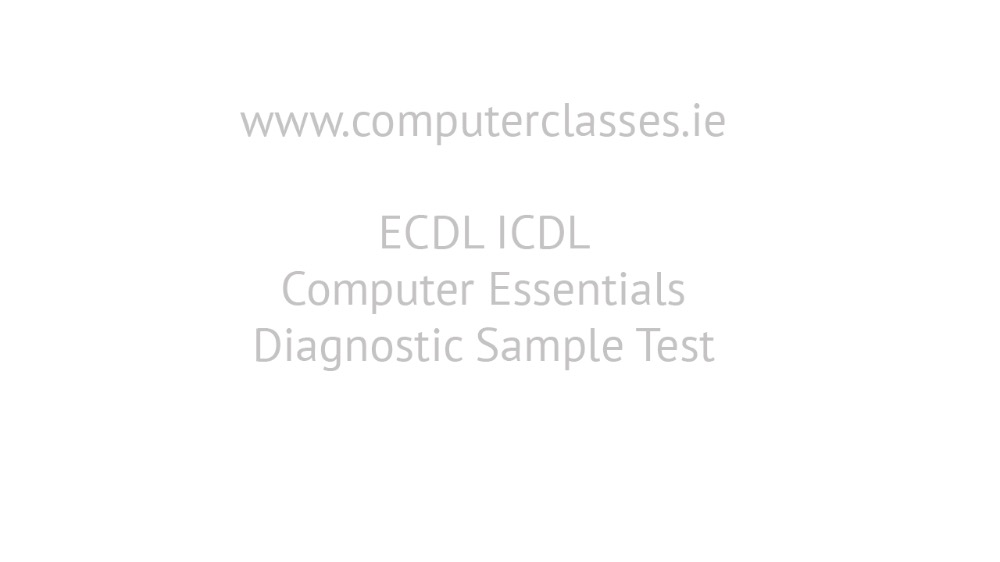 Computer Essentials Module 1