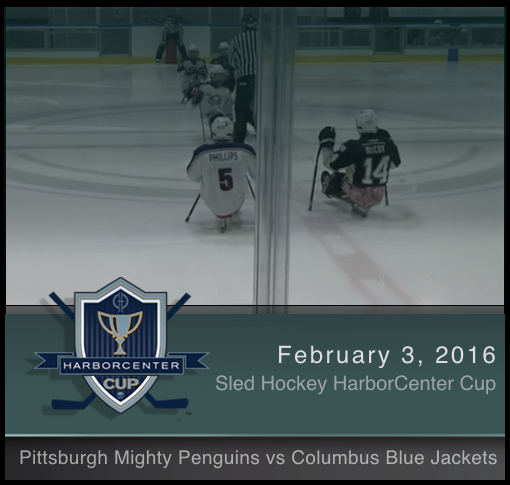 2/3/17 - Pittsburgh Mighty Penguins vs Columbus Blue Jackets Sled