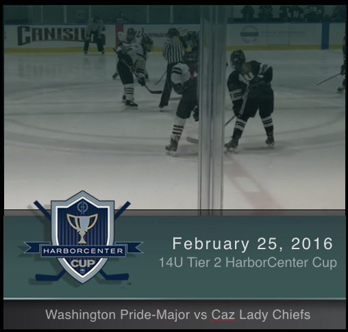 2/25/17 - Girls 14U Tier 2 Washington Pride-Major vs Caz Lady Chiefs