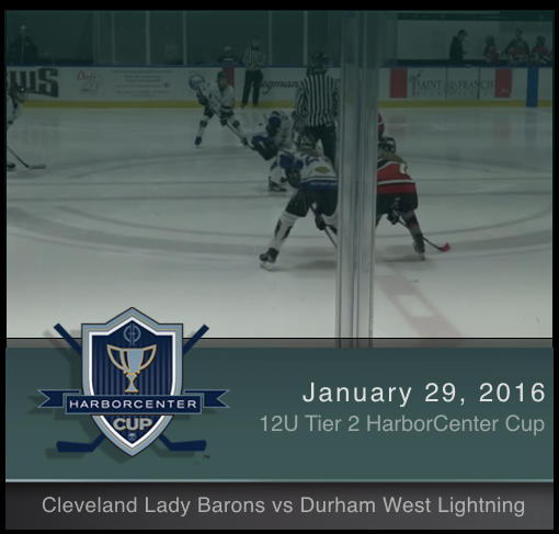 12U Tier 2 Cleveland Lady Barons vs Durham West Lightning
