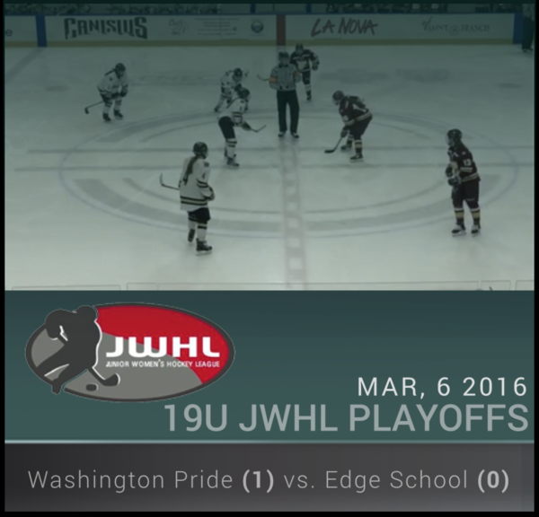 3/6/16 - JWHL 19U Championship - Washington Pride vs Edge School