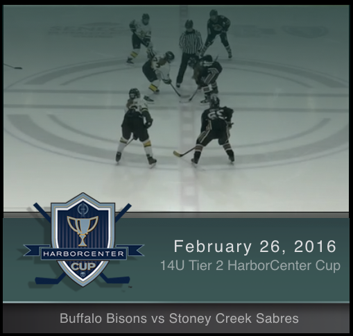 2/26/17 - 14U Tier 2 Buffalo Bisons vs Stoney Creek Sabres