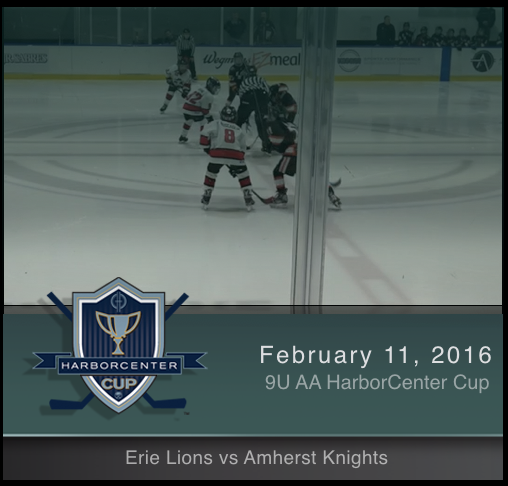 9U AA Erie Lions vs Amherst Knights