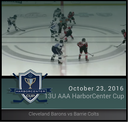 13U AAA Barrie Colts vs Cleveland Barons
