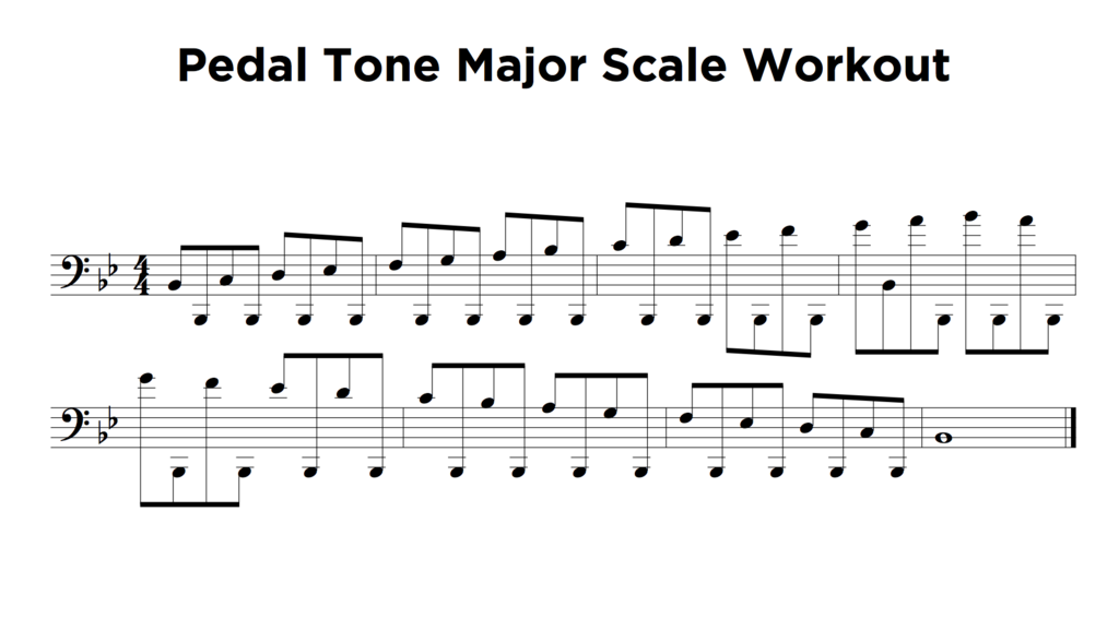 Nick Finzer — Pedal Tone Major Scale Workout | Nick Finzer