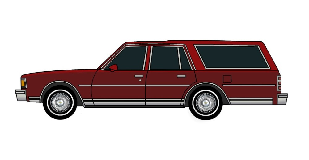 1977 chevy caprice wagon burgundy tuscan red jcarwil papercraft 1995 Chevy Caprice