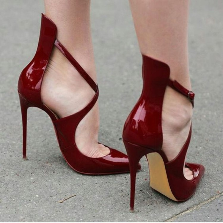 1b6531dd2313 European station pointed high-heeled cross straps women s singles shoes -  Born To Shop