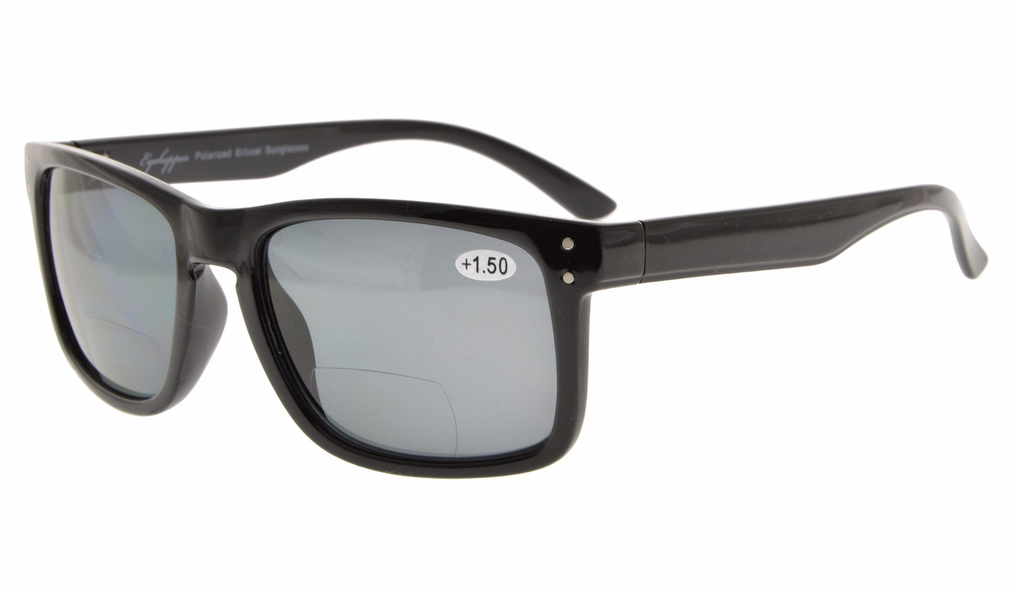 1970b9aea817 Eyekepper Polycarbonate Polarized Bifocal Sunglasses S031PGSG-Black Frame-Grey  Lens