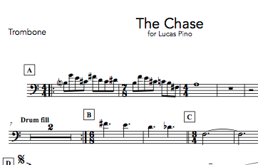 preview 76321 the chase digital sheet music nick finzer