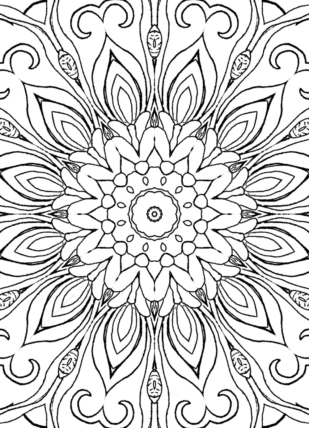 15 Fun Fancy Funky Faces Coloring Pages For Adults Vol2