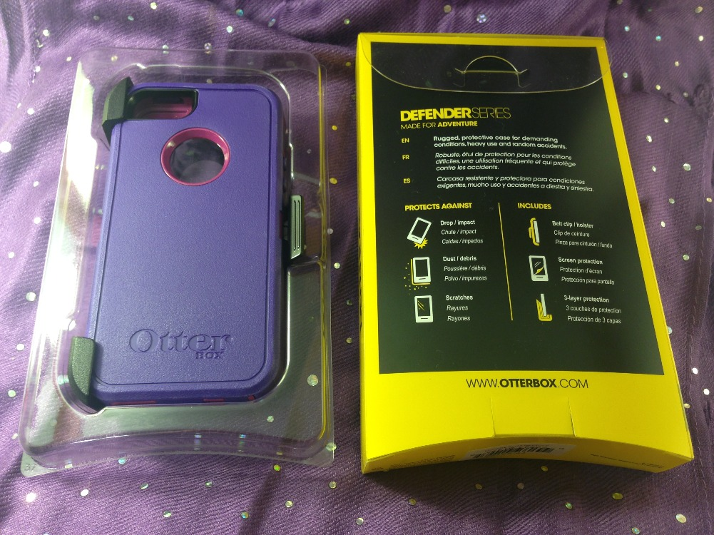 size 40 21e28 310a6 OtterBox Defender Series Case & Holster for iPhone 5 and iPhone 5s  (Purple/Bloom) - Adam Warren