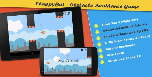 Flappy bot - android source code game - Buy Android Code