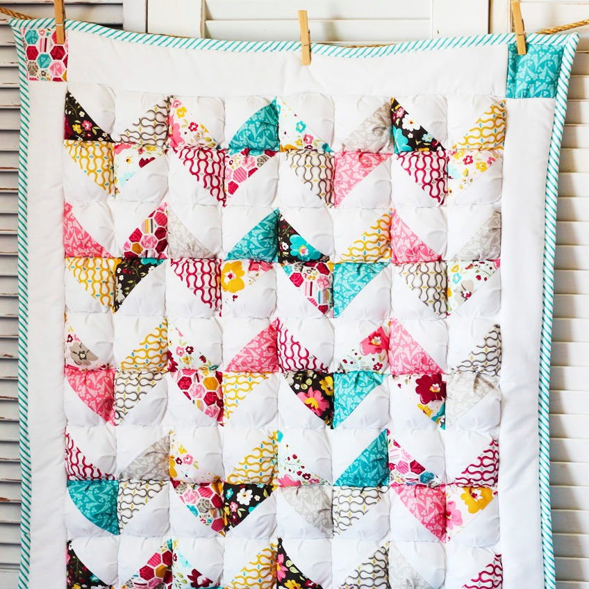 Chevron Puff Quilt Honeybear Lane