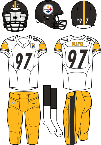 DECAL SHEET FOR THE PITTSBURGH STEELERS ELECTRIC FOOTBALL MEN BOTH HOME   AWAY  UNIFORMS. - Ray Anderson 2b0027c4ac64