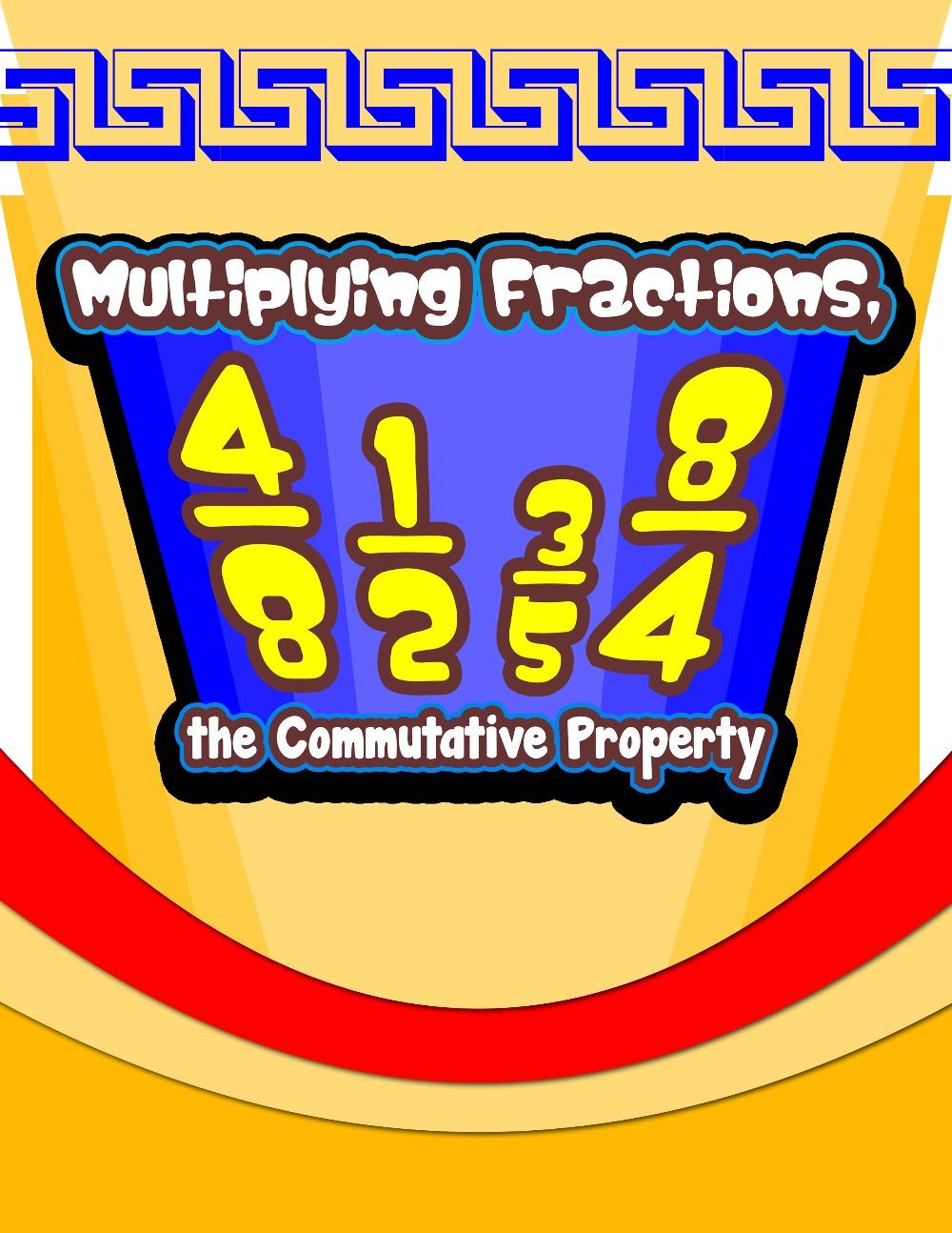 multiplying fractions, the commutative property